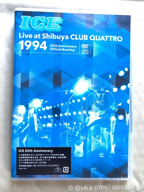 """ICE""Live at Shibuya CLUB QUATTRO 1994~25th Anniversary Official Bootleg+'98 Year End Special(CD)超貴重"