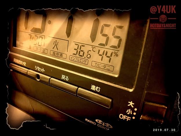 Photos: 36.6℃44%きょうも猛暑の中、別の作業、汗だくで(~_~;)梅雨明け即つづく災害レベルの暑さ朝昼夜24h冷めない…今週はピーク。家も暑い、食も少ない栄養、夜も3時うるさく眠れない=熱中症体質になる
