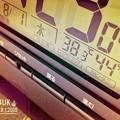 38.3℃44%11:23_8.1Startでもamから驚愕の温度に(;゜0゜)連続殺人猛暑…日々上昇、死者続出、救急車連日夜、光化学スモッグ注意報発令[Camera+,effect:iPadAir]