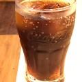 """18:38_5.15ガストドリンクバー!お疲れ後に""""コーラ""""Coca-Colaグラスで爽快に疲労猛暑中まいう~o(>_<)o9.6きょうも猛暑37℃ピーカン晴れチャリ色々旅…汗だく頭フラフラ☆夜は外食"""