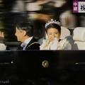 """Photos: 15:09NHK生中継~即位祝賀パレード""""祝賀御列の儀""""~両陛下は左右満遍なく笑顔でお手を~皇后雅子さま光る瞳と太陽にきらめくティアラ☆身も心も装もジュエリーも日本も瞬いた(シャッター優先:TZ85)"""