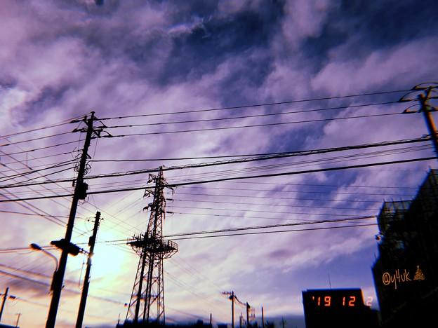 12.(1)2その10日後の今夜12.12再び旅へ夜向かった~Xmas Tree(Steel Tower), Sunset Sky(cold tonight Xmas Live12.12)~フィルム風