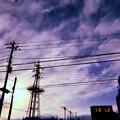 Photos: 12.(1)2その10日後の今夜12.12再び旅へ夜向かった~Xmas Tree(Steel Tower), Sunset Sky(cold tonight Xmas Live12.12)~フィルム風