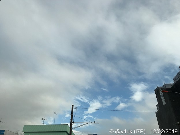 "Photos: 12.2旅先その1.曇り時々晴れ間が見えた旅の途中~Why every Monday is rain?月曜は""10週連続""で曇り雨…青空方向奇跡Xmas seasonからか躰無理してでも行ったからか?"