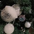 Photos: 12.6_17:49XmasTree Silver White Edition~白銀オーナメントのクリスマスツリーは大人の色気ある意味Xmasツリーぽくないよね~シャンパンとJazzが似合っちゃう感じ