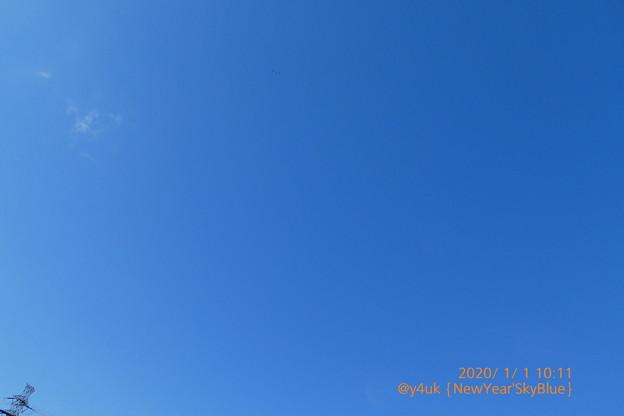 """2020.1.1_10:11New Year'sky Blue~昨夜紅白から深夜の極寒暴風から一転、20℃異常気象暑い""""元日、こんなはずじゃなかった青空""""に歌う。何も変わらない過酷冷酷狂食人正月がない"""