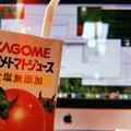 Photos: Macで作業その1.購入ハイレゾ膨大楽曲NAS,USB他へ~やはりデスクトップ広い画面は何するにもノートの様に猫背にならず快適とカゴメ野菜生活トマトもリンゴの様に頬赤らめる23℃(フィルム風:i7P)