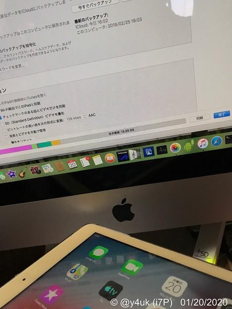 Macで作業その2.iPad6年をバックアップ→リカバリー!以前のBUが11ヶ月前'19.2.25驚き!約1年もBUしていなかった。でも壊れないiPad。Apple製品はMacもiOS製品もOS強い!