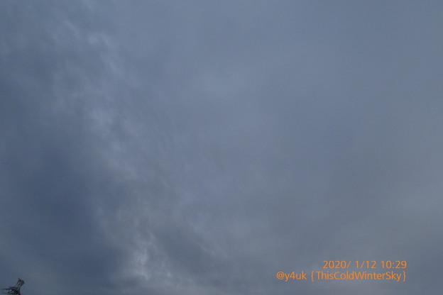 10:29_1.12This Cold Winter Cloud Sky~これぞ真冬の曇り空。鉄塔も暖冬の冬。曇りだと寒さがでるが快晴シャキッ凛とした冬ほぼない(1.22この先なぜか冬に寒い梅雨空続く