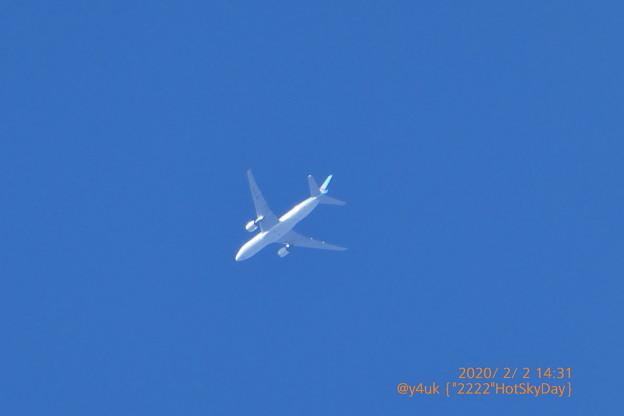 "2.2.2020 ""2222""Hot Sky Days~Korean Air Boeing787大韓航空機が撮れてた(°▽°)韓国へ帰るけどアニョハセヨ♪コンデジだけど見えた(1500mm:TZ85)"