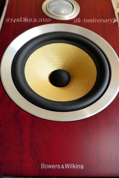 "9.9 Birthday""B&W CM5S2 Rose nut"" great beautiful perfect sounds speaker ""5th Anniversary""~祝購入5年愛用最高♪"