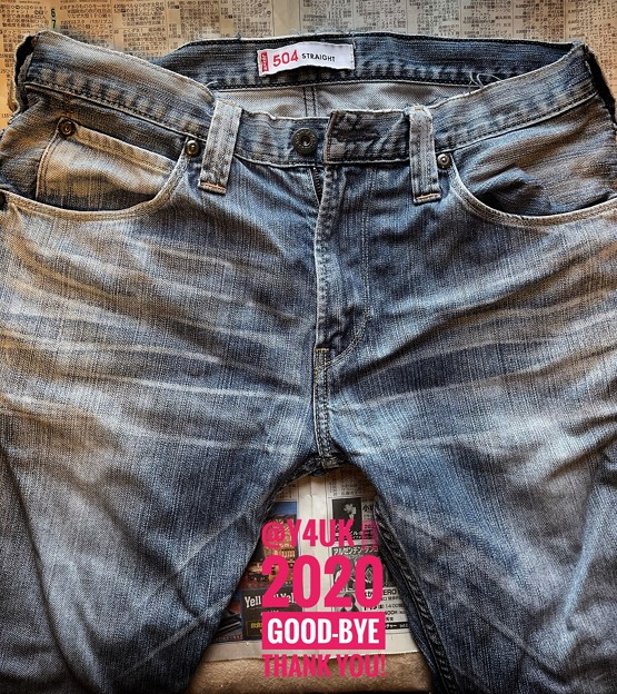 "2020歴史的3さよなら""Levi's 504"" ended jeans. I was used habitually for 15 years. Long together Thank you.新年"