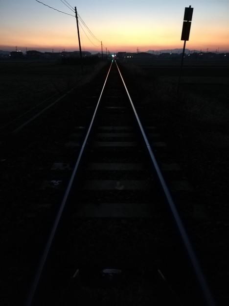 Photos: 線路は続くよ何処までも!