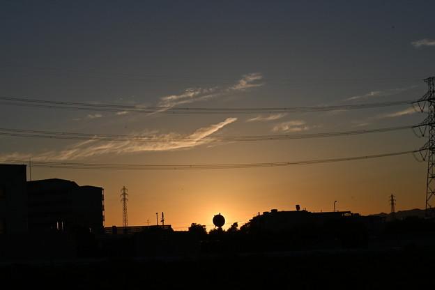 夏の終わりの落日