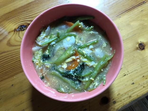 野菜味噌スープ (1)