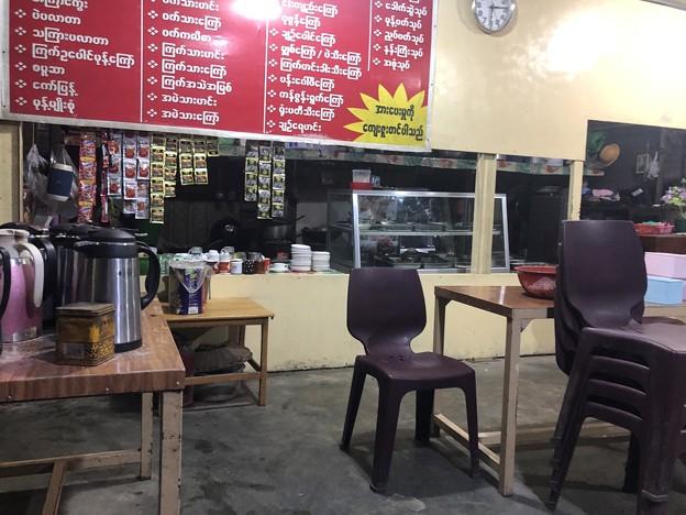 12月21日のヤンゴンでの朝ごはん