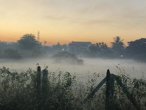 ヤンゴンの朝霧 12月23日 (7)