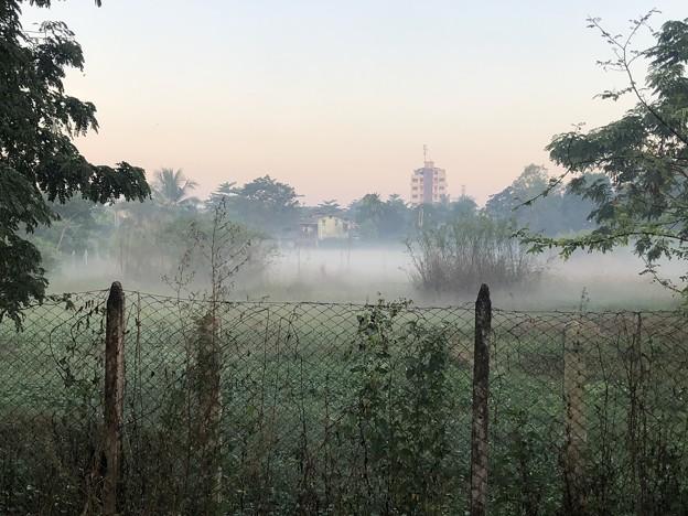 ヤンゴンの朝霧 12月23日 (3)