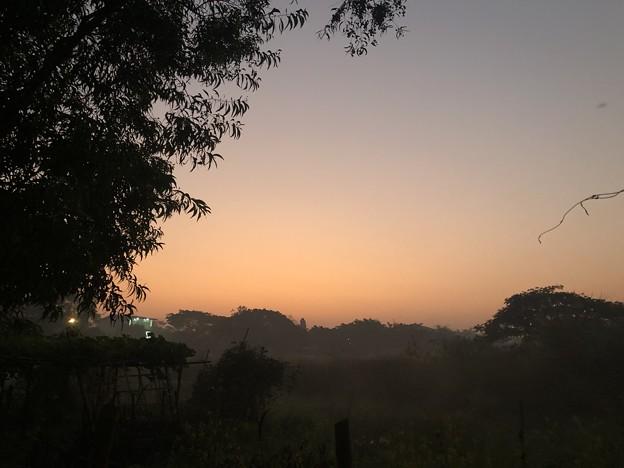 いつもより暗く感じる1月26日のヤンゴンの朝 (4)