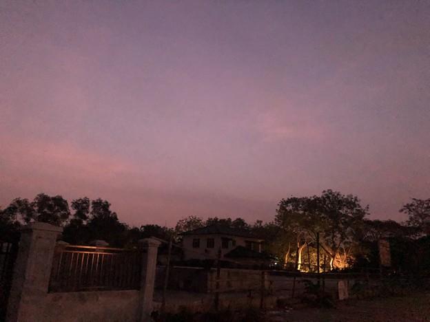 ヤンゴンもやの朝な1月28日 (1)