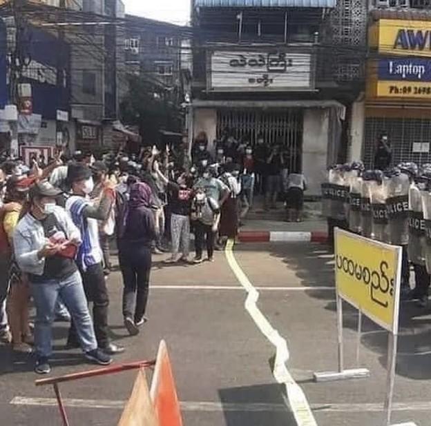 ヤンゴン デモ  2月6日(4)