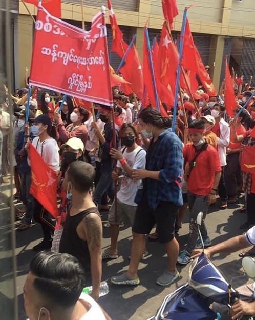 ヤンゴン デモ  2月6日(8)