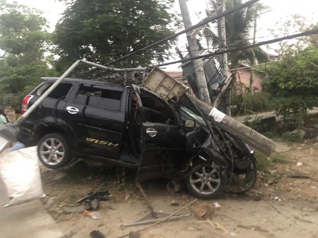 ヤンゴンで事故 (1)