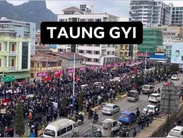 ミャンマーのデモ (9)