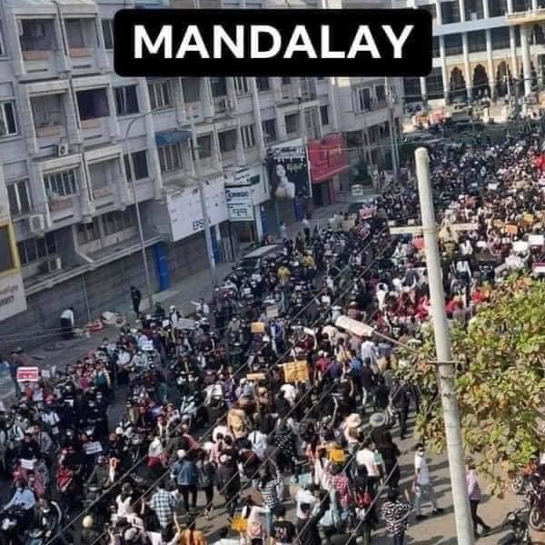 ミャンマーのデモ (7)