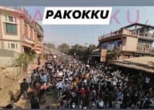ミャンマーのデモ (34)