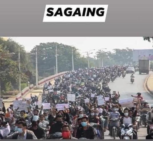 ミャンマーのデモ (32)