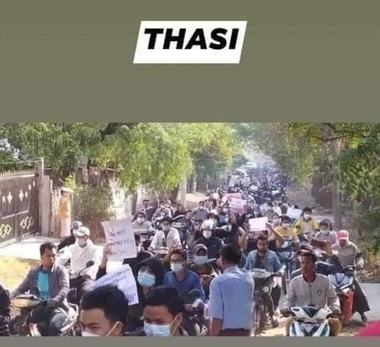 ミャンマーのデモ (27)