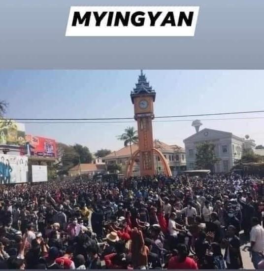 ミャンマーのデモ (19)