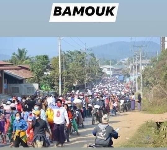 ミャンマーのデモ (22)