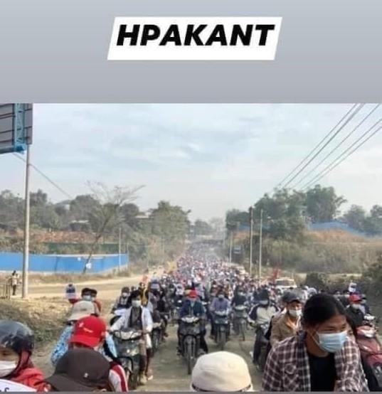 ミャンマーのデモ (24)