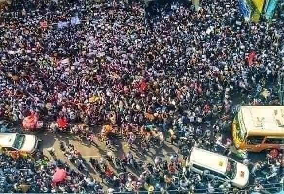ミャンマーのデモ (3)