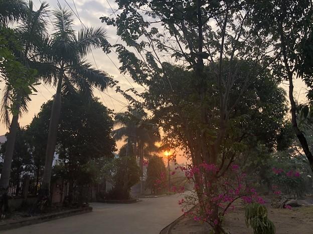 2月19日のヤンゴンの小区の朝 (1)