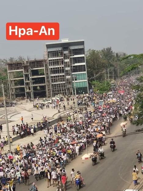 ミャンマー2月22日の大規模デモ (14)