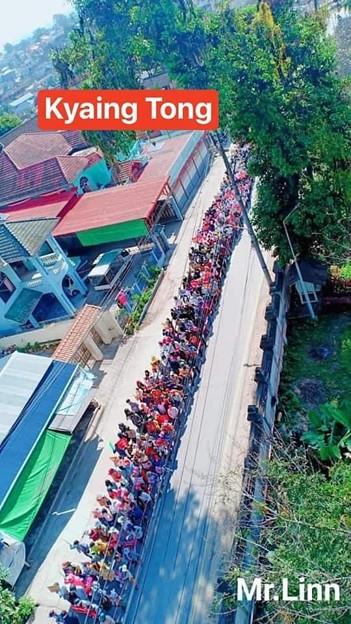 ミャンマー2月22日の大規模デモ (7)