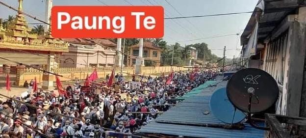 ミャンマー2月22日の大規模デモ (6)
