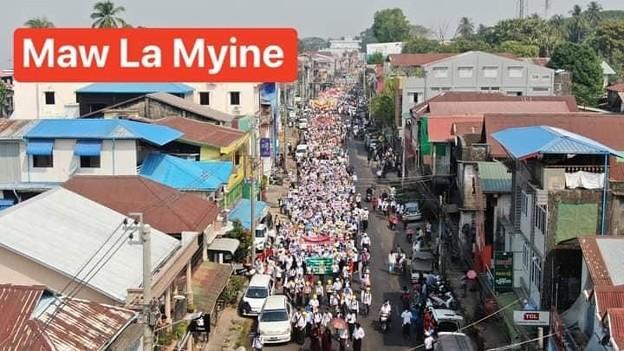 ミャンマー2月22日の大規模デモ (5)