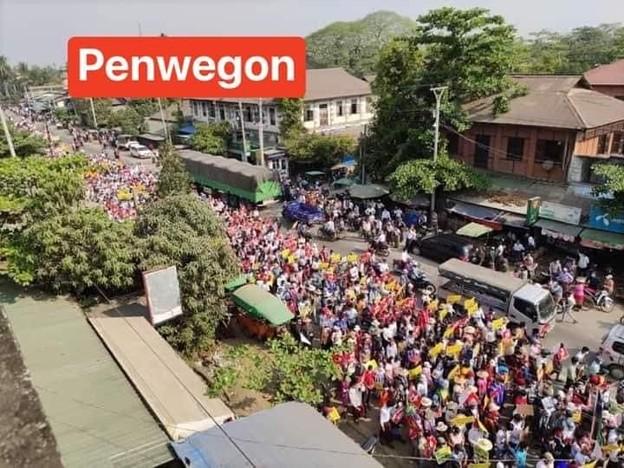 ミャンマー2月22日の大規模デモ (13)