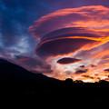 写真: 燃空の朝