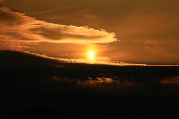 太陽柱の朝