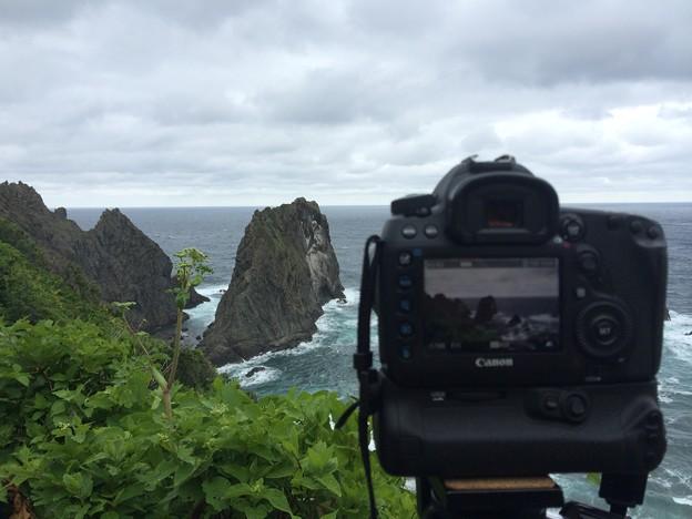 島武意海岸から望む