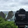 写真: 島武意海岸から望む