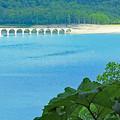 写真: タウシュベツ川橋梁 遠景