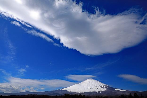 頭上は吊るし雲