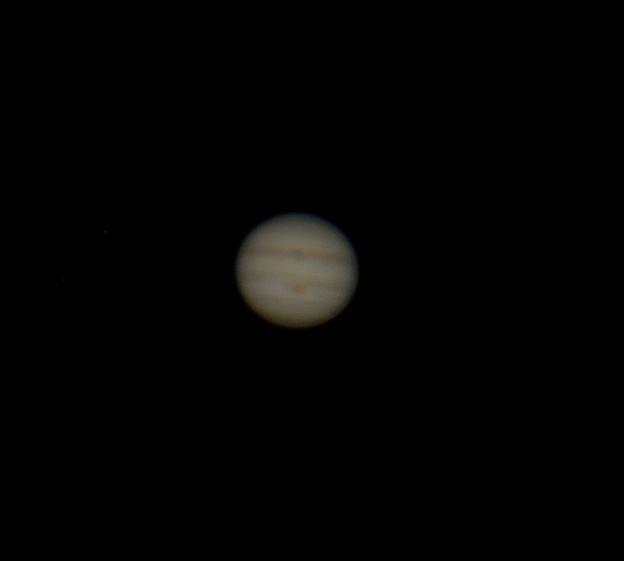 写真: 大赤斑、ど真ん中~。   木星  180511