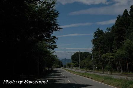 夏空の田舎道